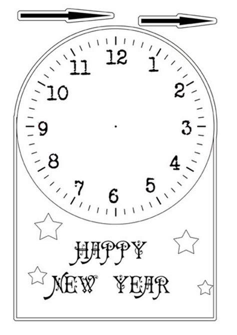 printable new years clock new years clock play my kid craft