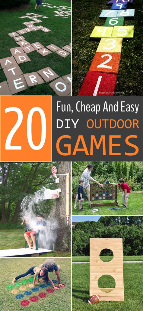 diy games 20 fun cheap and easy diy outdoor games for the whole family