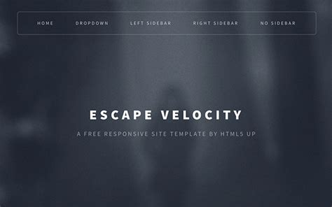 escape velocity template 20 free useful flat html templates