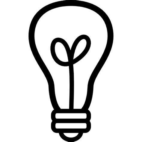 Image Outline by Light Bulb Outline Icons Free