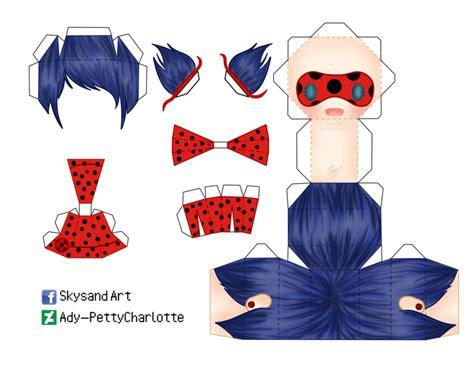 Ladybug Paper Craft - ladybug papercraft by ady pettycharlotte on deviantart
