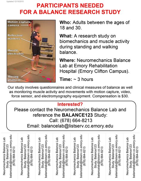 research study flyer template research participants needed