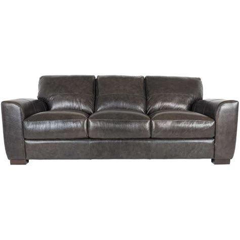 all leather couches dark grey italian all leather sofa 1p 4849s soft line afw