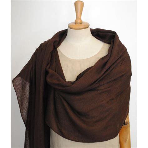shawl pashmina brown color 100 wool rednerium
