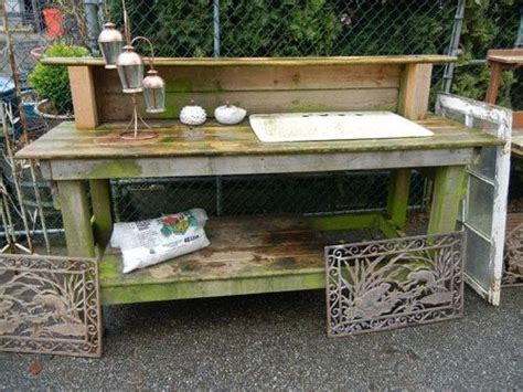 garden work bench with sink 25 best ideas about potting benches on pinterest