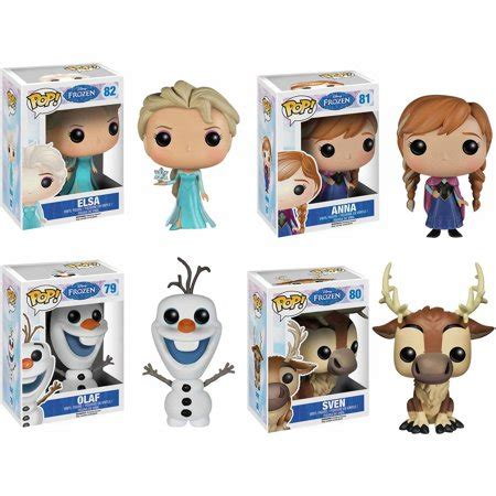 K D Kruwil Set Anni funko disney frozen pop vinyl set elsa olaf and