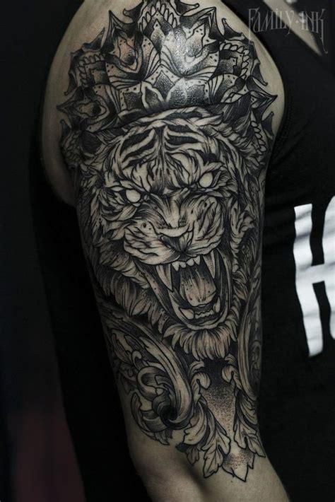 geometric tattoo tiger ideas flawssy