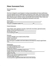 home assessment 8 home evaluation form sles free sle exle