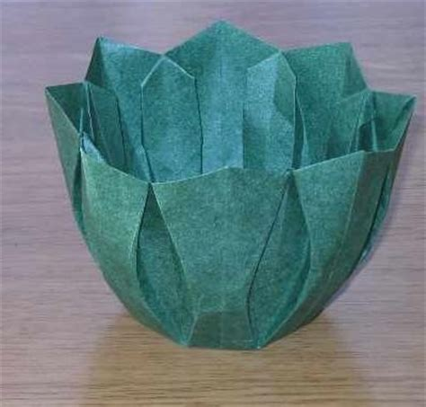 Folded Paper Bowl - 247 best origami images on modular origami