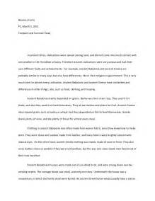 Topics For Compare And Contrast Essays by Compare Contrast Essay
