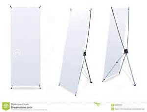 blank banner x stands stock photo image 20094230