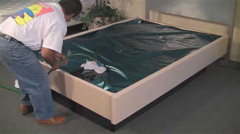 Bed Frame With Tv Inside Sterling Sleep Systems Hardside Waterbed Setup