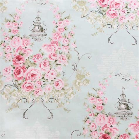 Glass Chair Mat Rose Fabric