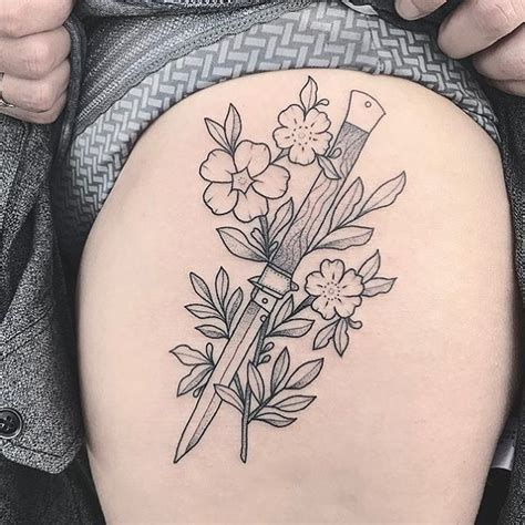 flower knife tattoo 3383 best tattoos and piercings images on pinterest