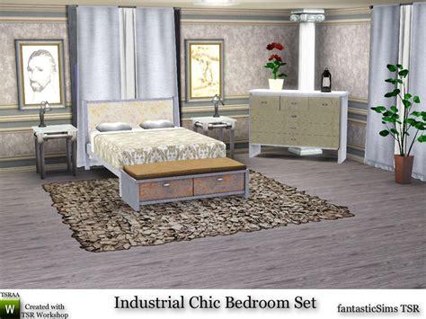 fantasticsims industrial chic bedroom set