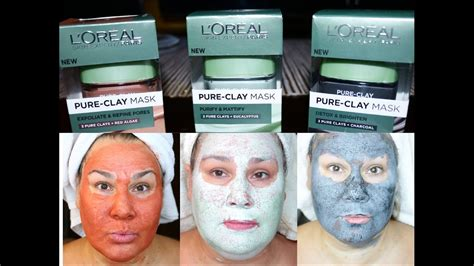 Blue Detox Clay Mask Review by Loreal Clay Masks All 3 Compared Algae