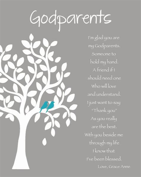 Wedding Anniversary Wishes For Godparents by Godparents Personalized Gift 8x10 Print Custom Gift