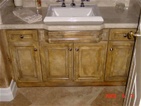 Faux Painted Kitchen Cabinets by Faux Cabinets
