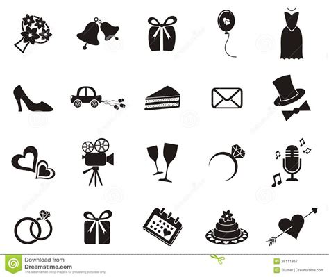 wedding invitation icons free wedding icons clipart 44
