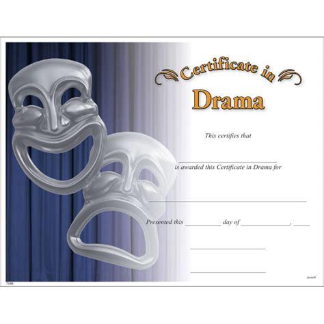drama certificate jones school supply