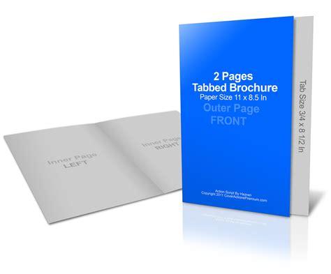 Graduated Fold Brochure Mockup Cover Actions Premium Mockup Psd Template Tabbed Brochure Template
