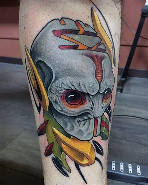 new school alien tattoo 70 alien tattoo designs for men extraterrestrial ink ideas