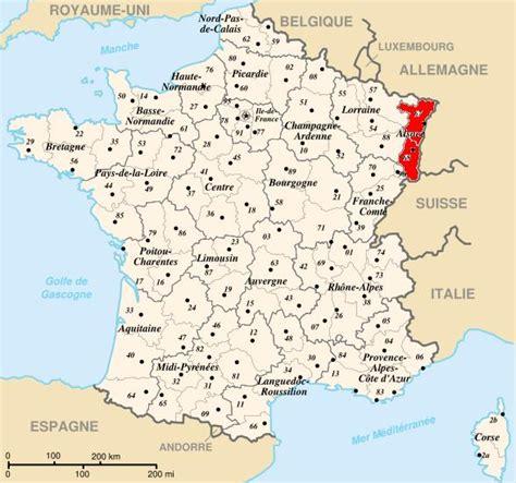 Carte de France: Carte de france alsace