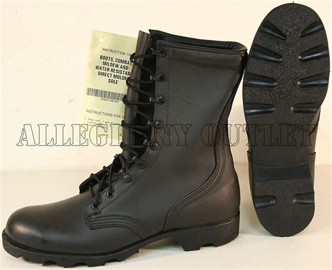leather combat boots new usgi leather speedlace panama sole combat boots black many sizes