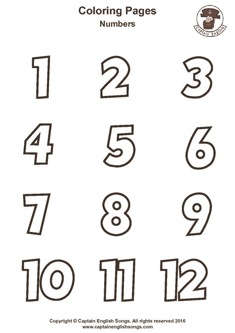 coloring pages with numbers coloring numbers captain