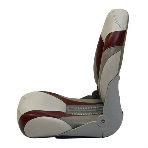 alumacraft boat seats used alumacraft tempress gray burgundy silver boat fishing