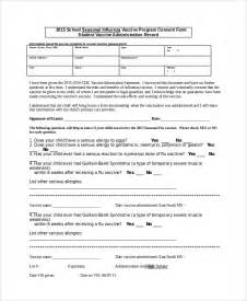 vaccination consent form template sle vaccine consent form templates 8 free documents