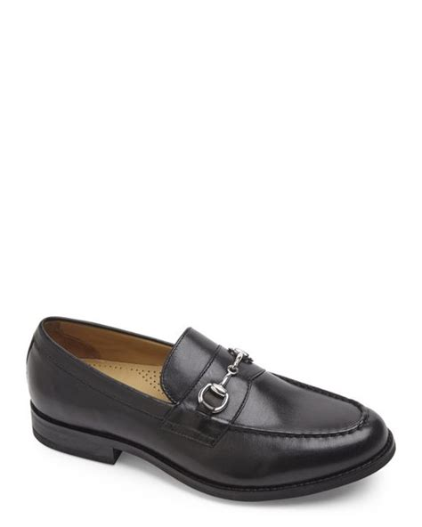 cole haan bit loafers cole haan maxwell bit loafers in black for lyst