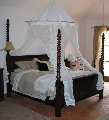 bed with posts traditional custom made twisted pencil post bed from the four poster bed company