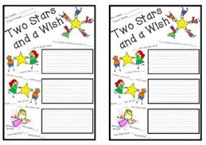Book Report Template Grade two stars and a wish peer assessment template by carla van