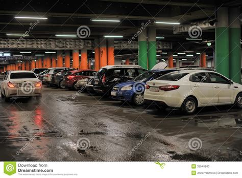 Underground Garage Russia by Underground Parking In The Shopping Center Editorial Photo
