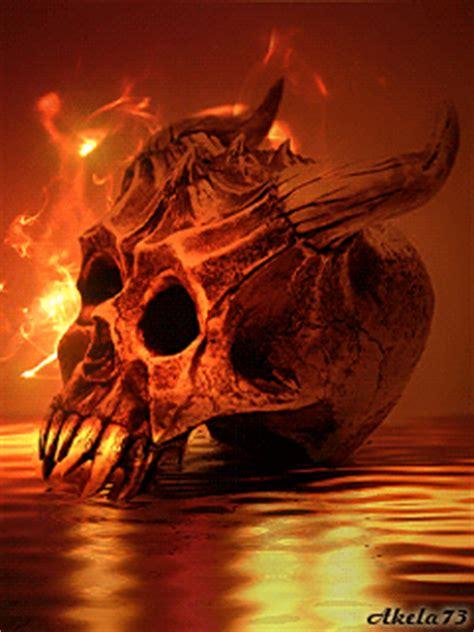 burning skull animated gifs   animations