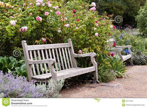 rose garden   park  wooden bench royalty