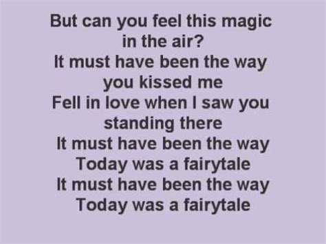 s day today was a fairytale today was a fairytale with lyrics on screen
