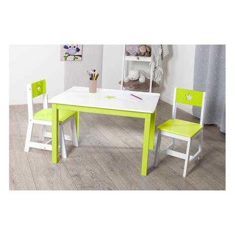 table bureau enfant bois quot abc quot vert