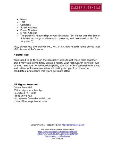 professional reference list resume resume template tex references list template doc