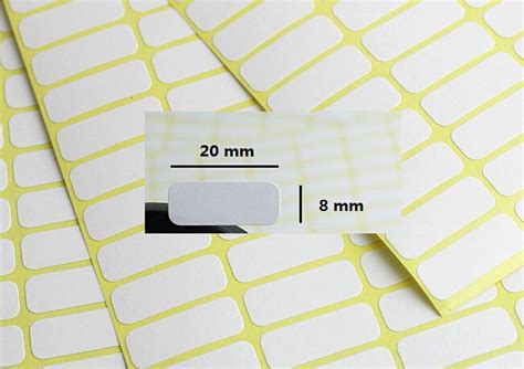Label Nama Paket Mini Sticker Waterproof The 3 288 pcs mini blank label 8 x 20mm plain white self adhesive price sticker labels tags blank