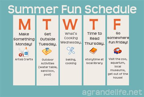 summer c schedule template summer schedule for