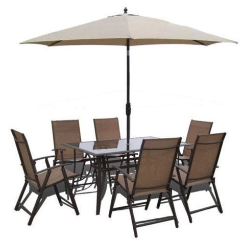 Patio Table Set With Umbrella Garden Table Umbrella Ebay