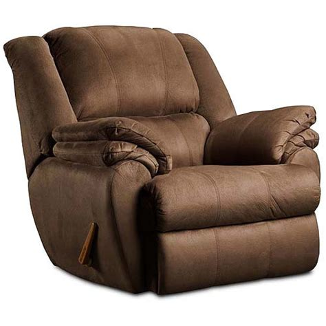 walmart recliner ashford rocker recliner chocolate furniture walmart com