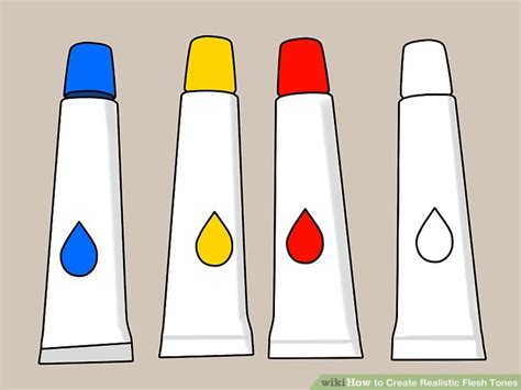 how to make skin color with paint 3 ways to create realistic flesh tones wikihow
