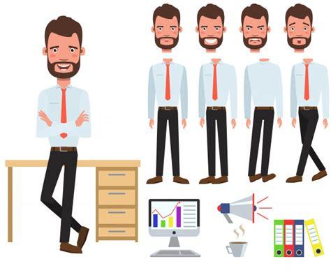 responsabile ufficio responsabile ufficio maschio al carattere di scrivania con