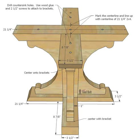 pedestal desk plans diy woodworking projects farmhouse style round pedestal table her tool belt