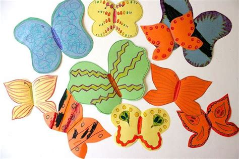 Butterfly Construction Paper Craft - paper butterfly craft make colorful butterflies with