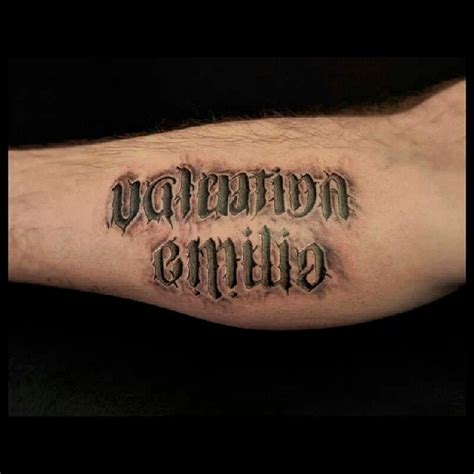 3d effect lettering tattoo by analisbet luna analisbet