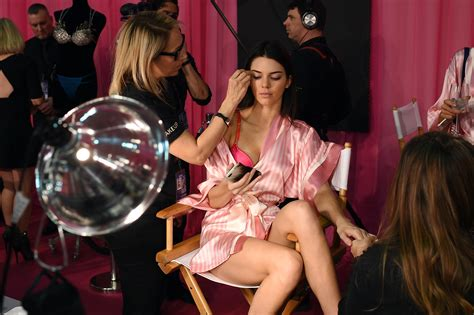 Backstage At The Victorias Secret Fashion Show Models In Baby by Kendall Jenner 2015 S Secret Fashion Show 1 Satiny